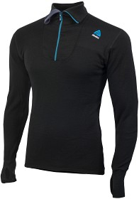 Bild på Aclima DoubleWool Polo Shirt Zip Man Jet Black