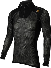 Bild på Aclima WoolNet Polo Shirt with Zip Man Jet Black