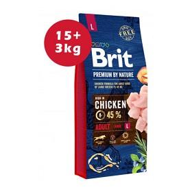Bild på Brit Premium by Nature Adult L 15+3 kg