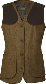 Bild på Chevalier Hawick Lady Tweed Shooting Vest -naisten liivi, ruskea