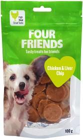 Bild på Four Friends Koiranherkku Chicken & Liver Chip 100g