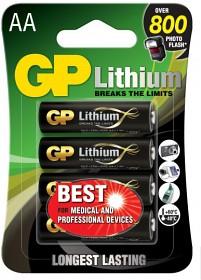 Bild på GP AA-litiumparistot 1.5V 15LF-2U4 4-pack