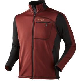 Bild på Härkila Vestmar Hybrid Fleece Jacket Syrah Red Melange