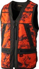Bild på Härkila Lynx Safety Vest AXIS MSP® Orange Blaze/Shadow Brown