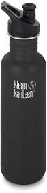 Bild på Klean Kanteen 800 ml Classic Sport Cap Shale Black