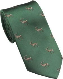 Bild på Laksen New Deer Tie metsästysaiheinen kravatti, vihreä