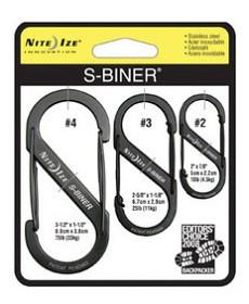 Bild på Nite Ize S-Biner 3-Pack Black