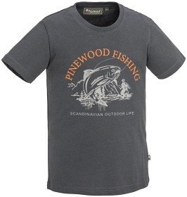 Bild på Pinewood Fish T-Shirt Kids D.Anthracite