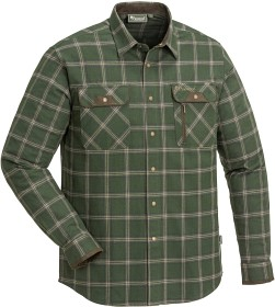 Bild på Pinewood Prestwick Exclusive Shirt Mossgreen/Dark Brown